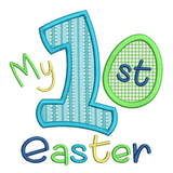 My 1st Easter applique machine embroidery design by sweetstitchdesign.com