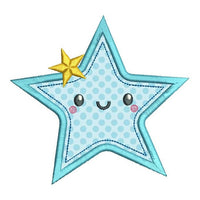 Starfish applique machine embroidery design by sweetstitchdesign.com