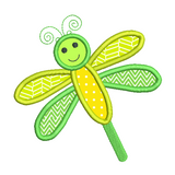Dragonfly applique machine embroidery design by sweetstitchdesign.com