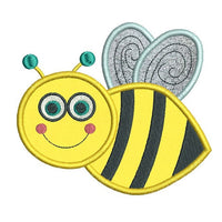 Bee applique machine embroidery design by sweetstitchdesign.com