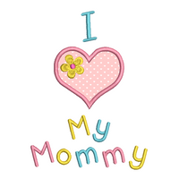 Mother's day applique machine embroidery design by sweetstitchdesign.com