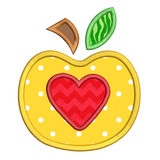 Apple applique machine embroidery design by sweetstitchdesign.com