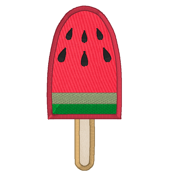 Watermelon applique machine embroidery design by sweetstitchdesign.com