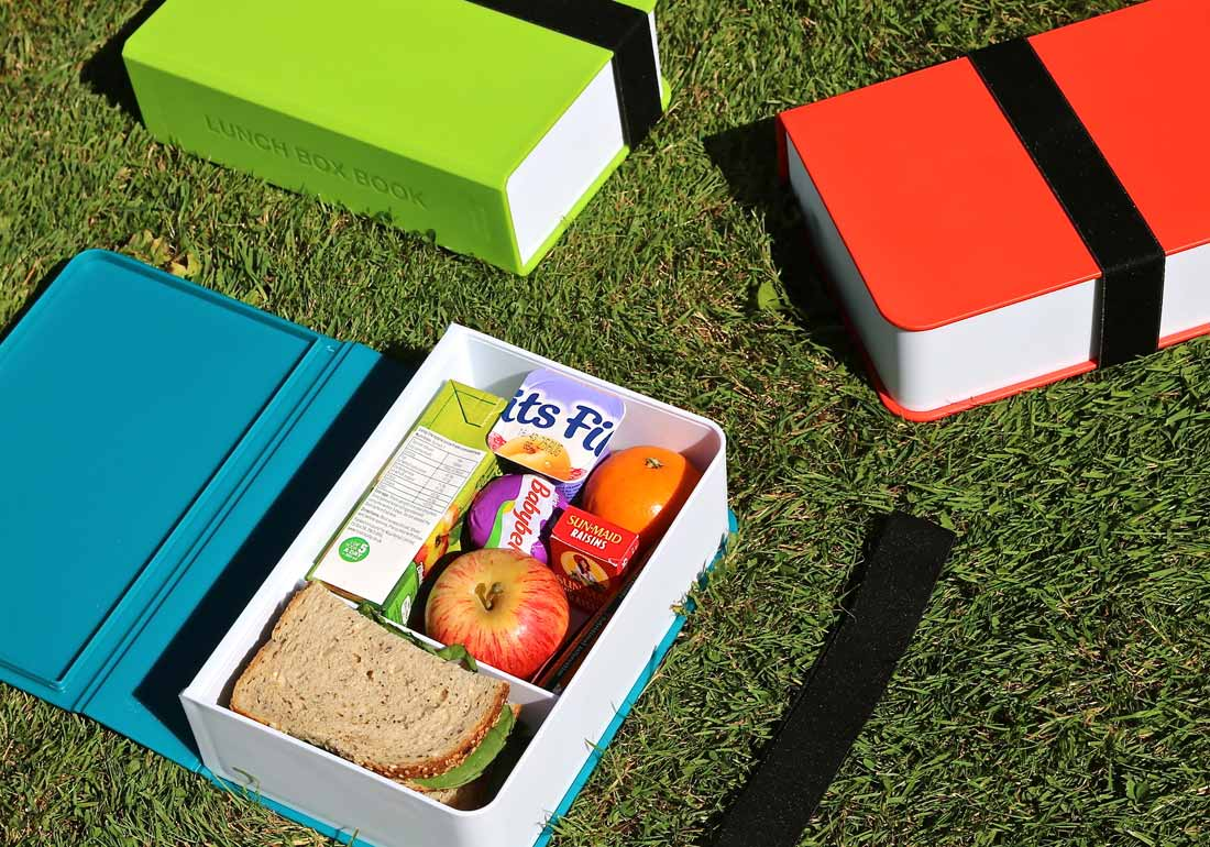 Book Lunch Box Book Grass Scene