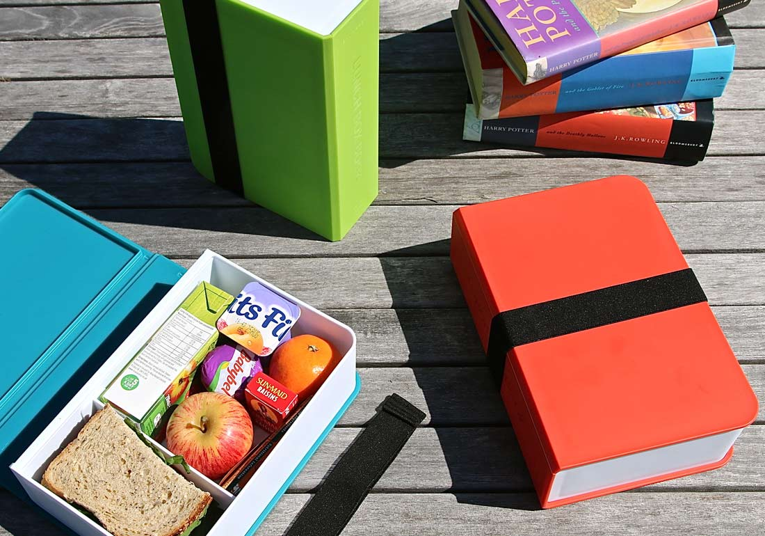 Book Lunch Box Table Scene