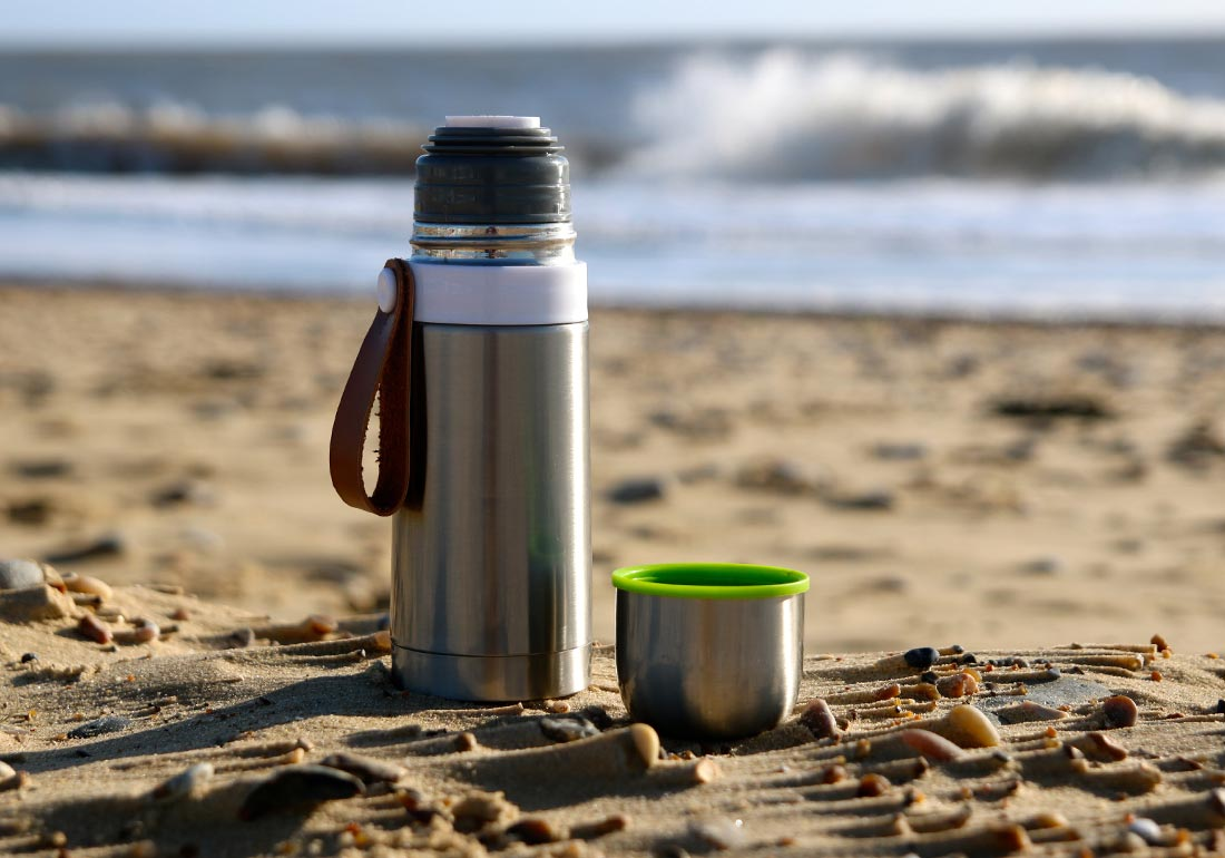 Steel Thermos Flask Beach
