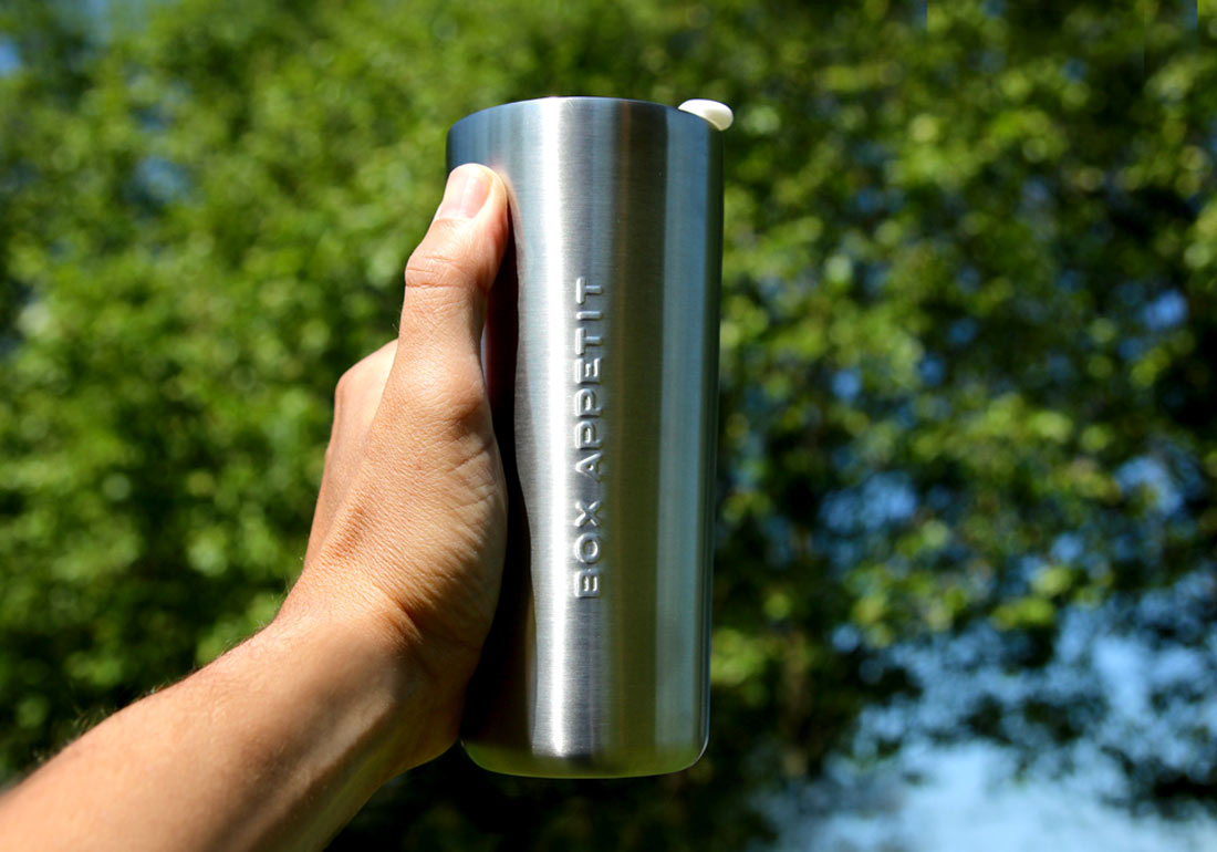 Stainless Steel Travel Mug Hand