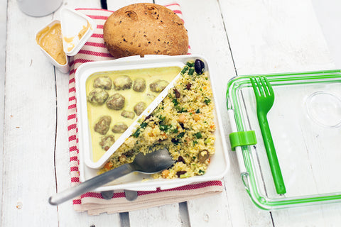 gaia borzicchi, vegetarian, meatballs, salad, recipe, box appetit, lunch box