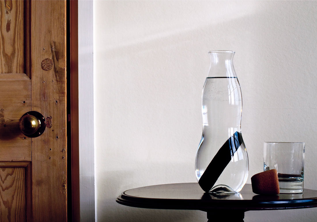 Glass Charcoal Filter Carafe Table