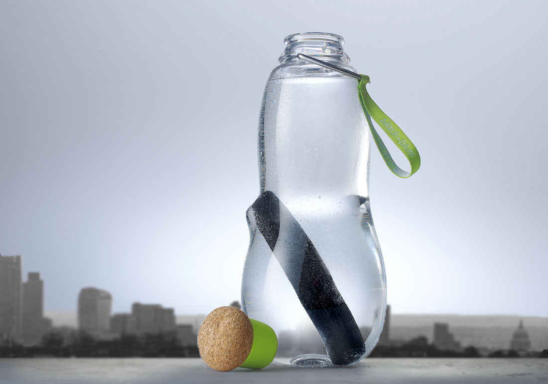 Charcoal Filter Water Bottle Lime Urban