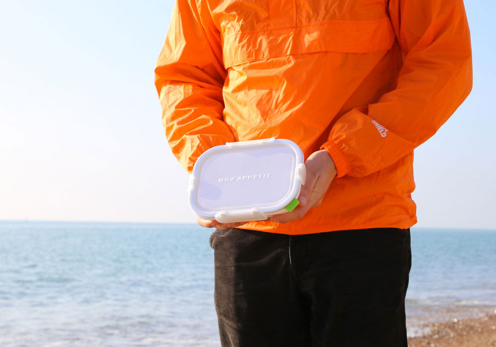 box appetit rectangle lunch box on beach by black and blum