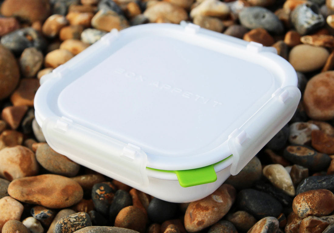 Lunch Box Food Container Square Beach