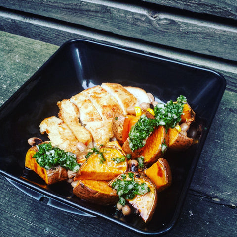 brazilian, recipe, laoise casey, rio, olympics, chicken, chimichurri, salad box appetit, lunch box