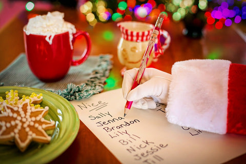 santa list, tradiitional christmas