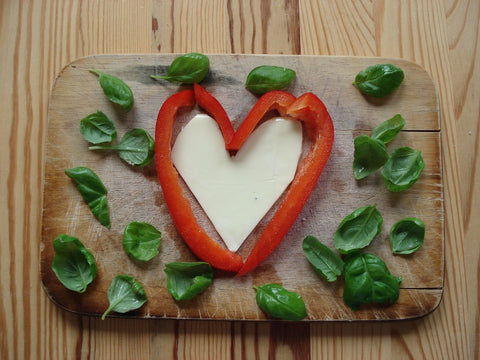 valentine's day lunch, heart shaped food