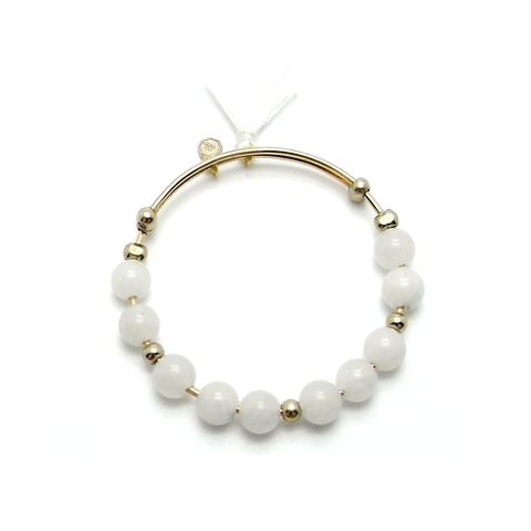 Kiku Expandable Bangle - White
