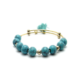 Kiku Expandable Bangle - Turquoise