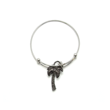 Palm Tree Charm Bangle