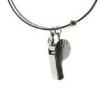 Whistle Charm Bangle
