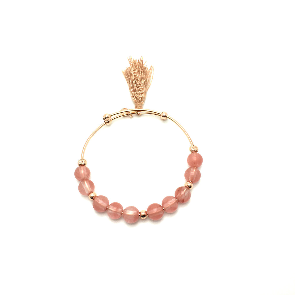 Kiku Expandable Bangle - Rose Gold