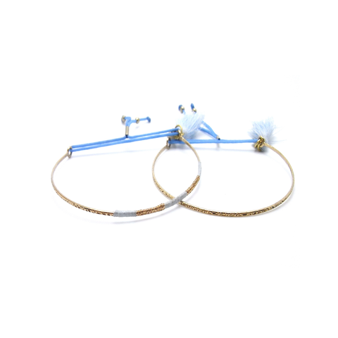 Skinny Friendship Bracelets - Coco Blue