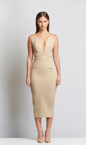 Cella Strappy Plunging Neckline Dress