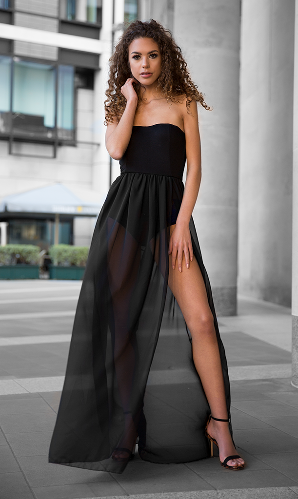 Aaliyah Slit Maxi Dress