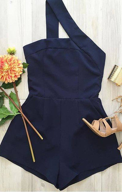 Playsuit - One Night Playsuit - Navy Blue