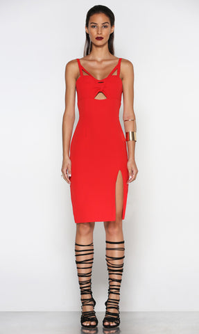Borderline Dress - Red