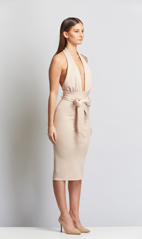 party cocktail nude dress - stylefierce