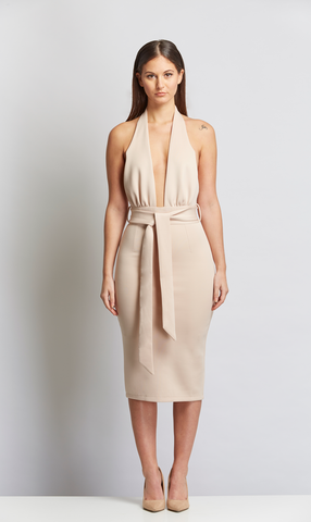 party cocktail nude dress