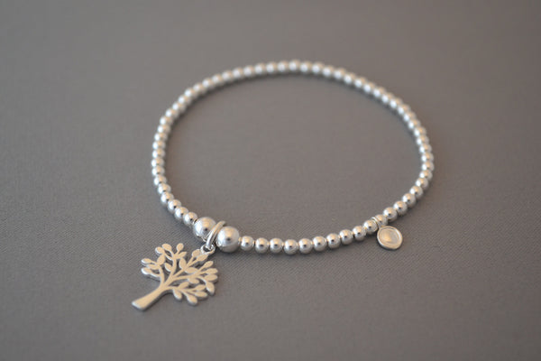 Limited Edition Tree of Life Sterling Silver bead bracelet