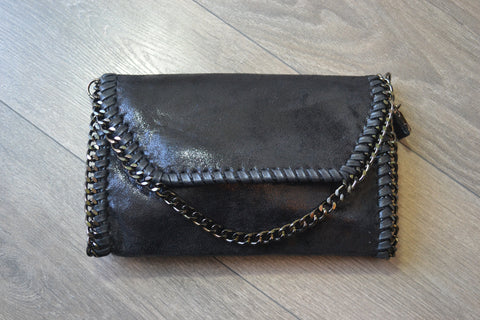 Clutch / Shoulder Chain bag - Black