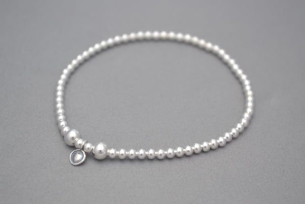 Sterling Silver 3mm bead bracelet
