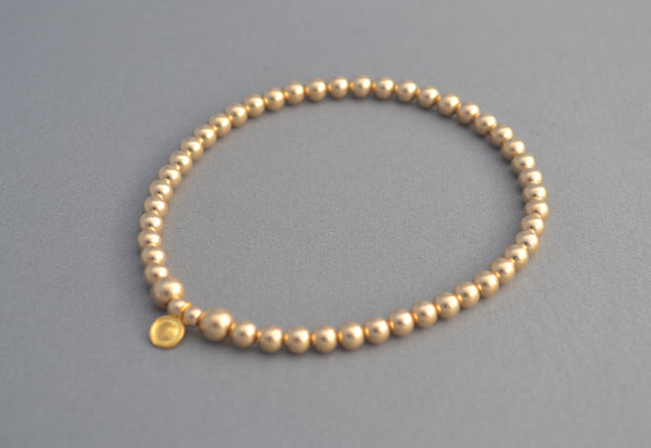 Simple Gold 4mm bead bracelet