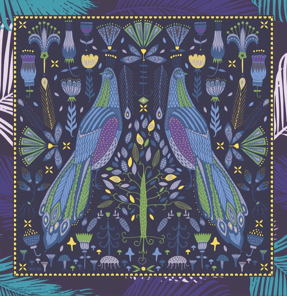Blue Bird Scarf