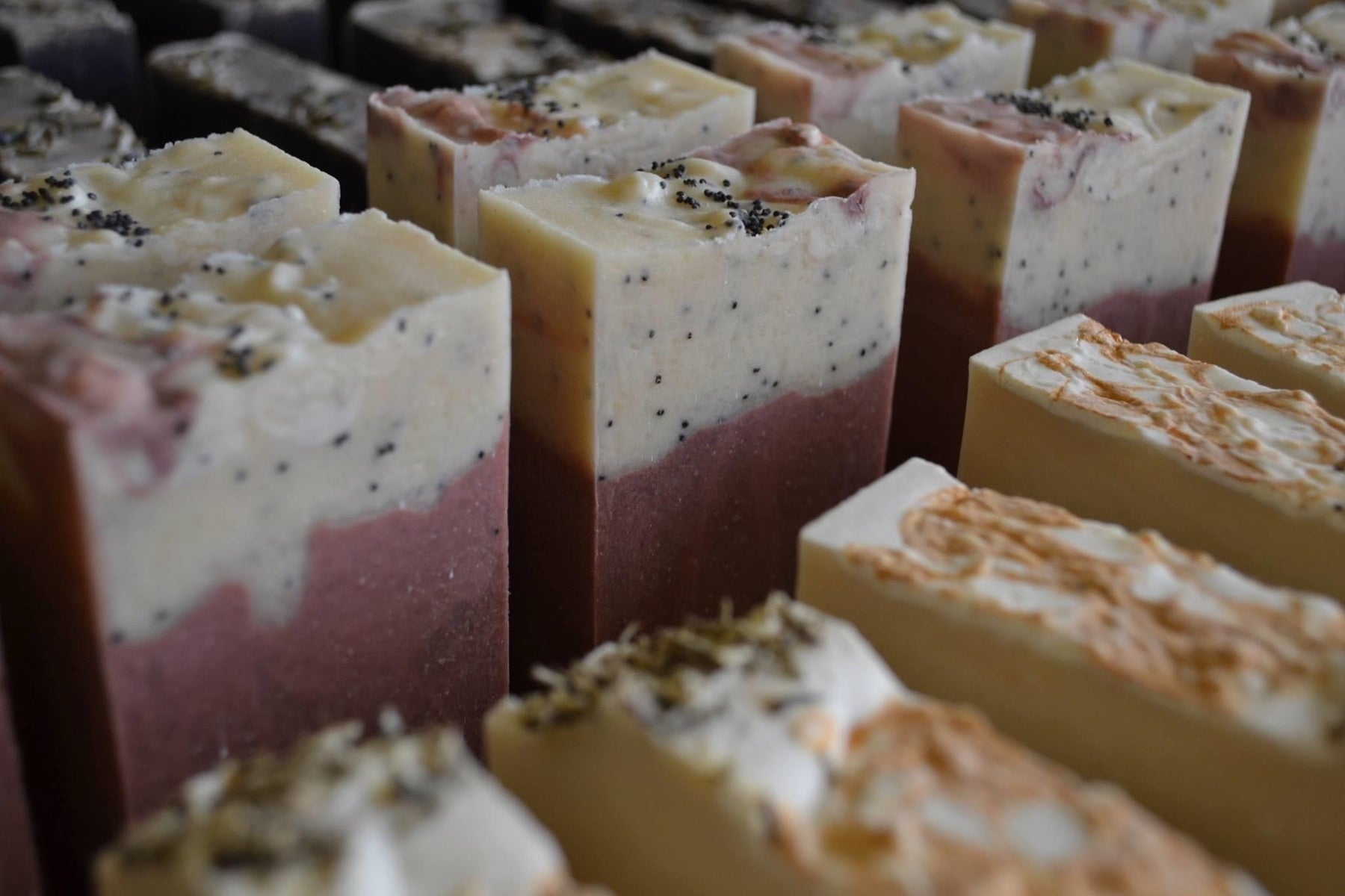 An image of a collection of hand crafted soaps