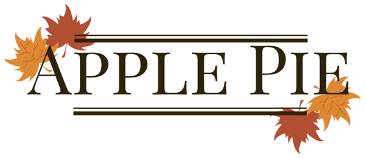 Title image for Apple Pie with trimmings of red and orange leaves