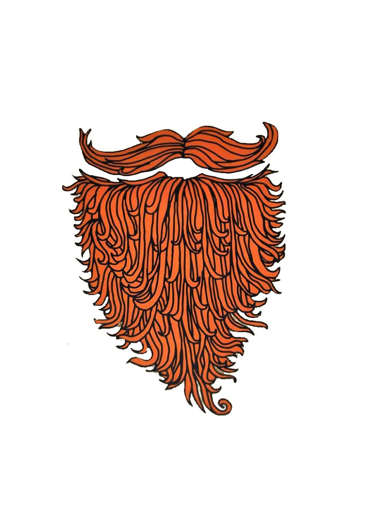 Beard Length Coaster - Set of Two