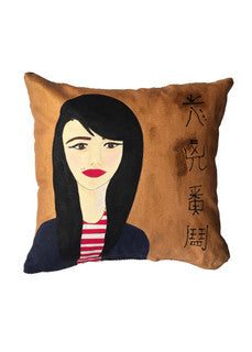 'Woman on gold' Cushion