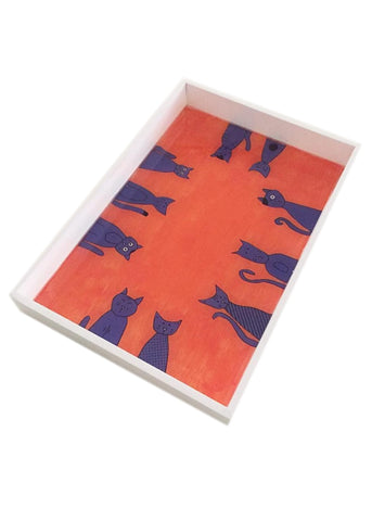 Quirky Cats Medium Tray