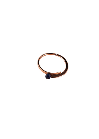 Lapis Lazuli inlaid in Pure Copper Bangle