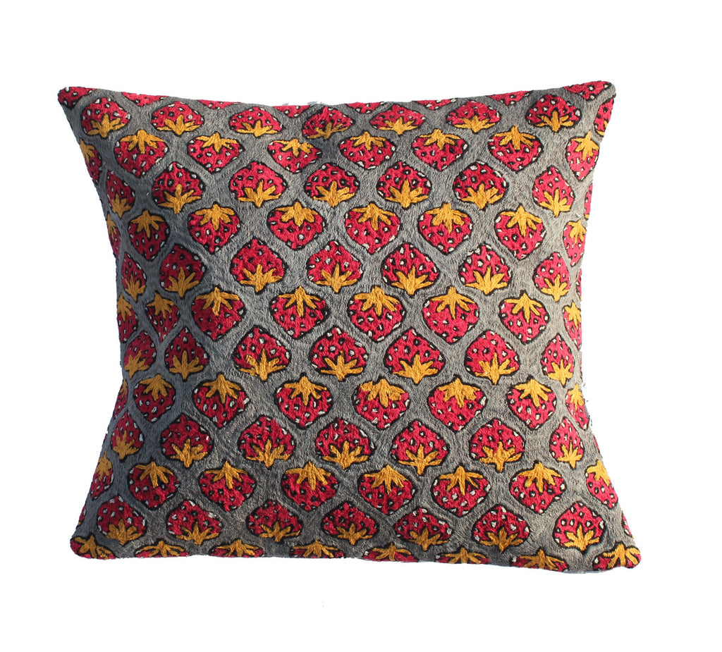 Polly's Strawberries Cushion