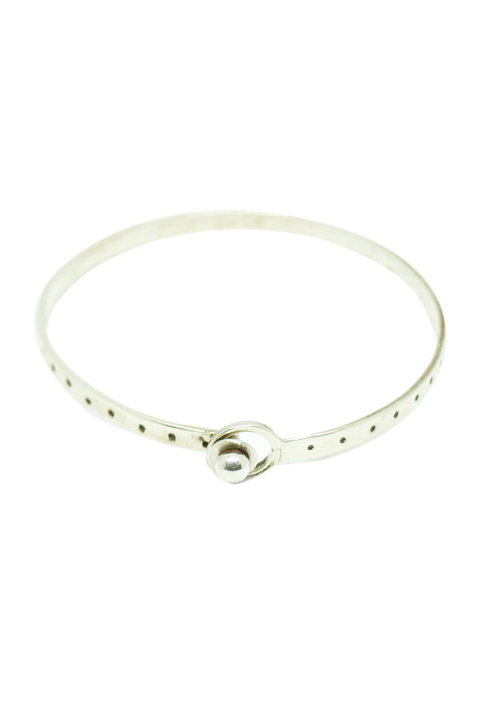 Dotted Etched Clasp Bangle