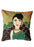 'Woman in green sari' Cushion