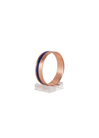 Lapis Lazuli inlaid in Copper Bangle - fine