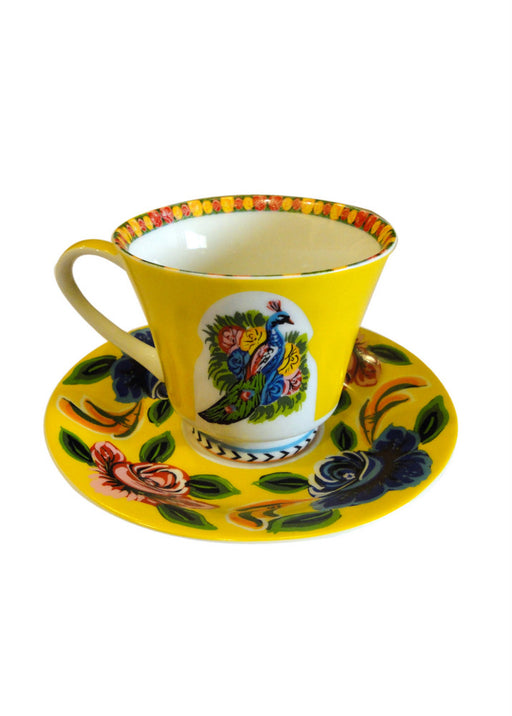 Tea Cup & Saucer - Yellow