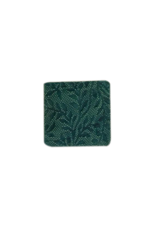 Square Ceramic Coaster - Turquoise Fern