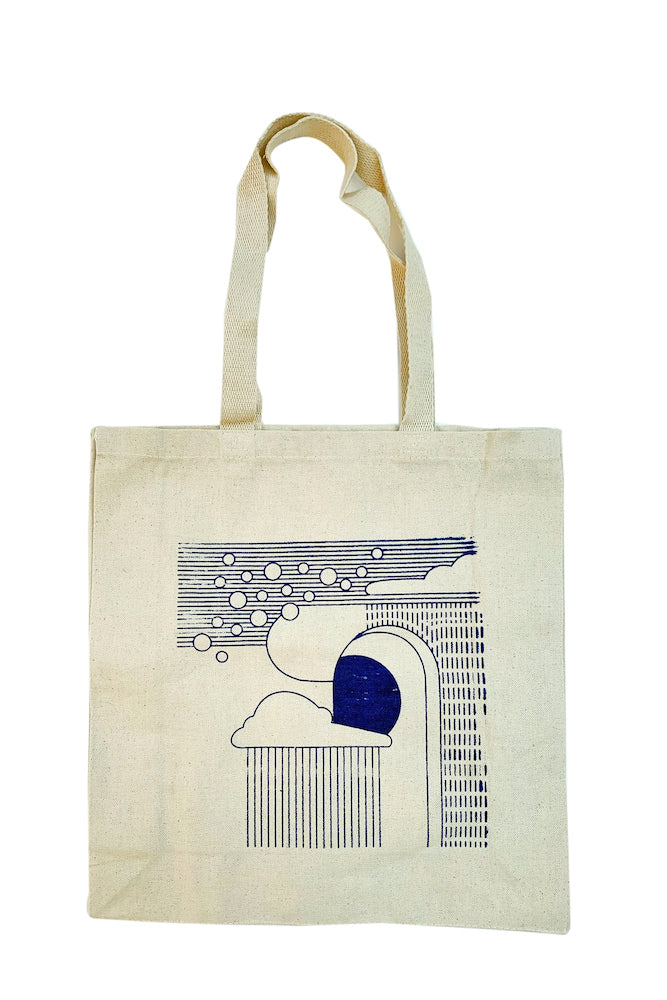 Wonkyscapes: Monsoon, tote bag