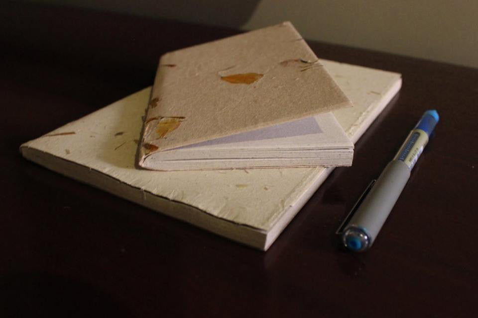 Mini Journal in Flower Petals
